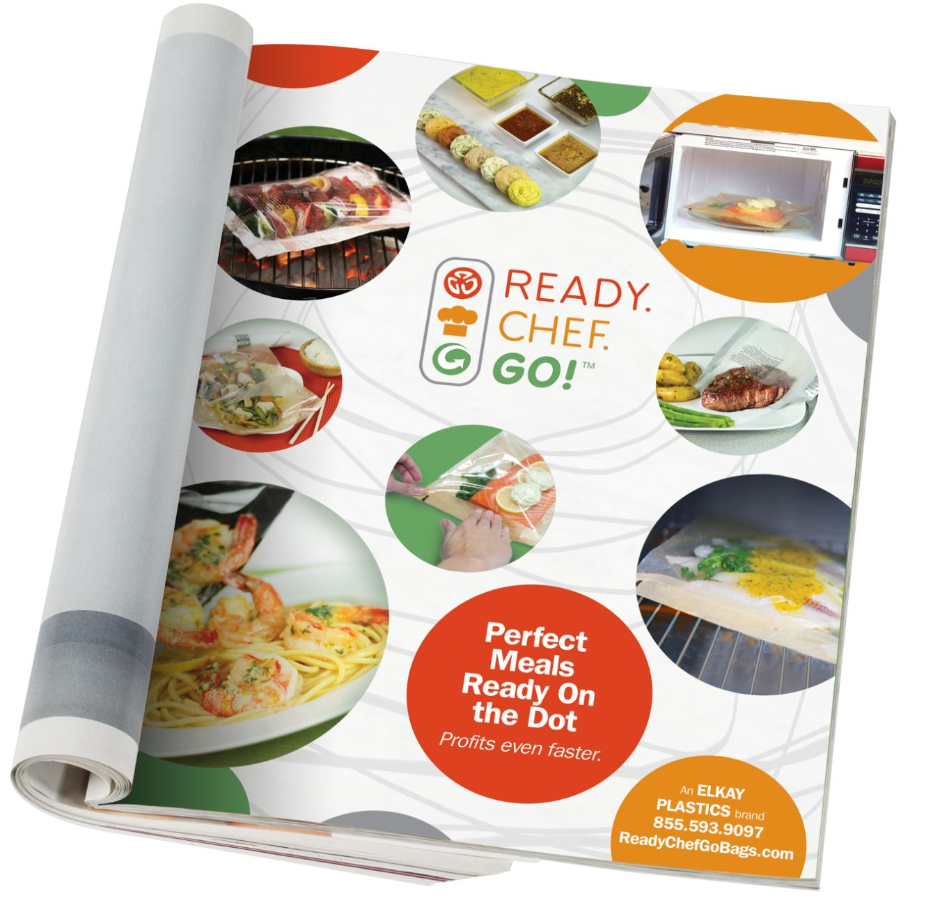 Ready. Chef. Go! magazine ad featuring meals.