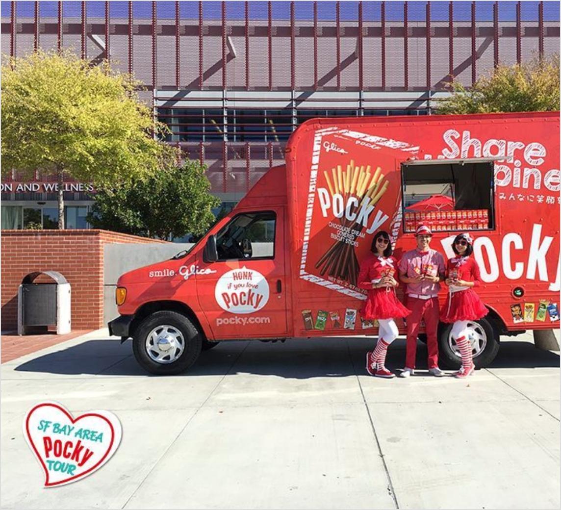 Bay Area Pocky truck with brand ambassadors.
